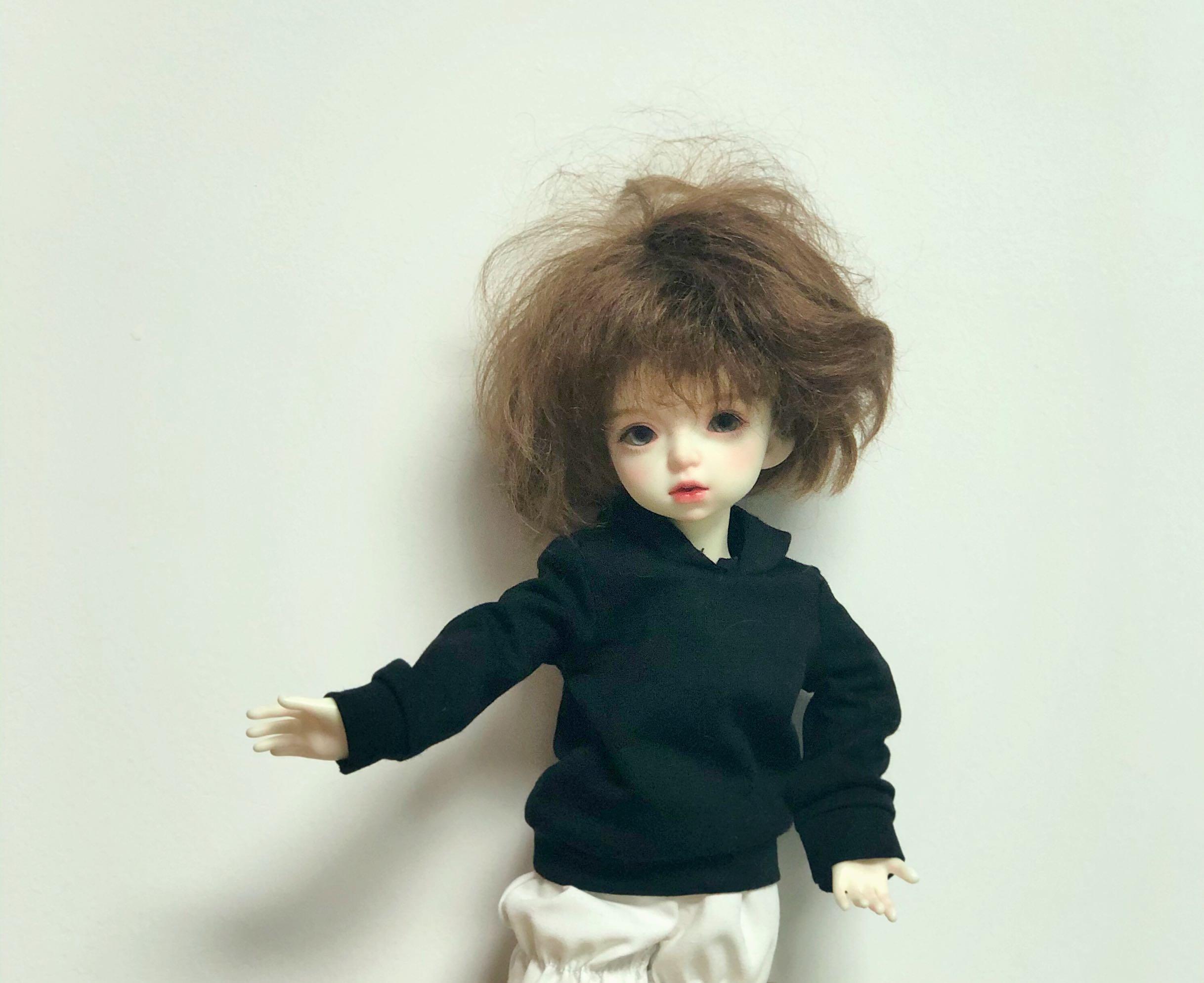 bjd 6分娃娃衣服 配件 T恤 带帽卫衣 现货针织衫上衣玩偶服饰 衣