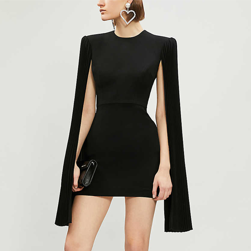 露背晚礼服连衣裙短款显瘦时尚生日派对宴会小礼服洋气女2021新款