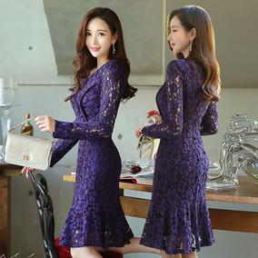 2021春秋新款韩版中长款长袖连衣裙