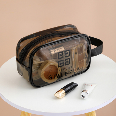 Net red cosmetic bag ins wind super fire travel portable large-capacity storage bag waterproof transparent cosmetic toiletry bag