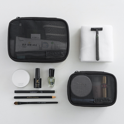 Transparent cosmetic bag female ins wind super fire portable large-capacity travel storage bag box portable toiletries mesh bag