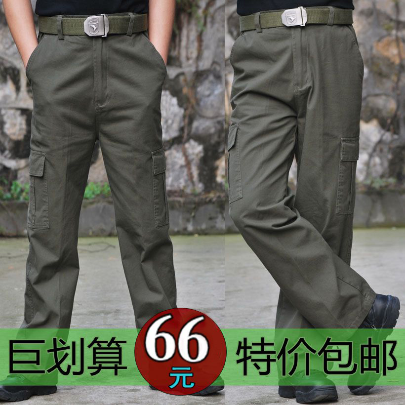 Mens overalls outdoor military fans cotton loose crotch casual training pants special forces tactical camouflage pants four seasons