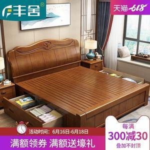 1.8米主卧现代中式储物实木床
