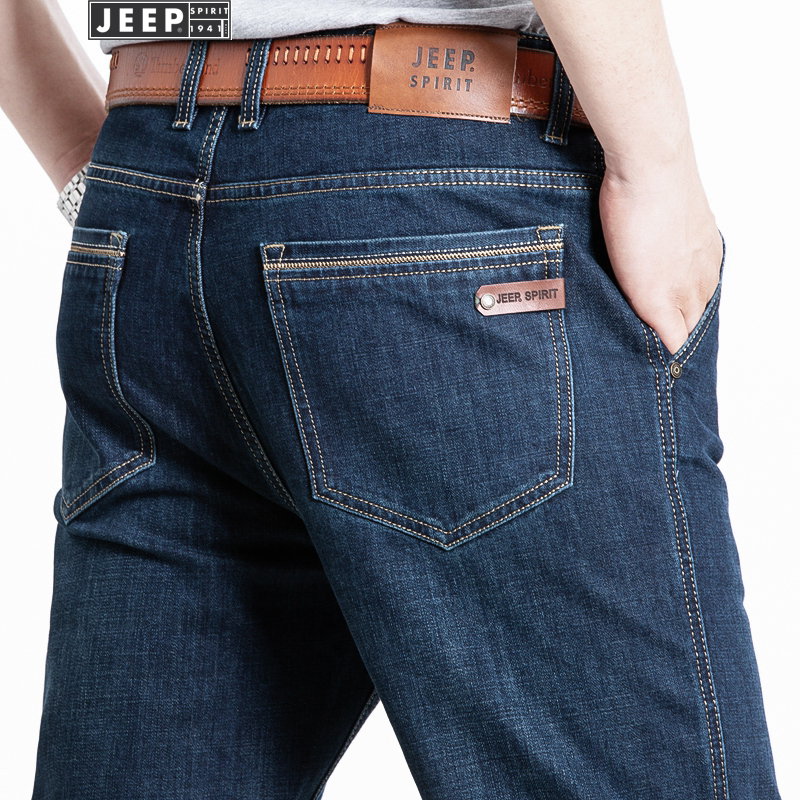 Jeep jeans mens loose straight casual pants new spring 2021 new bottom business
