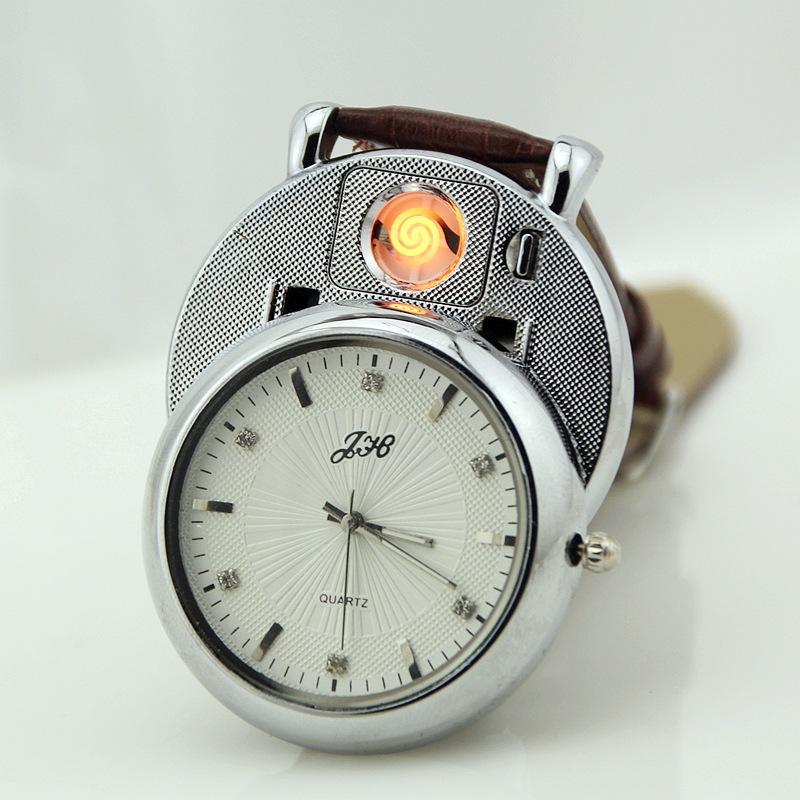 New jh-368 diamond embedded watch cigarette lighter watch watch high quality USB charging lighter