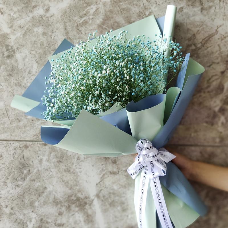 大束满天星干花真花花束毕业照礼品包装送女朋友闺蜜男友生日礼物