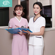 时尚韩版美容师工作服医护制服韩版医护服医美中心护士服