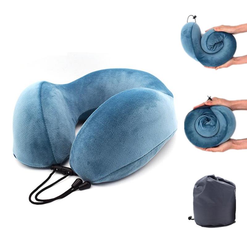 U型枕颈椎护颈枕汽车旅行飞机枕男女午休睡觉u形记忆棉枕头可折叠满8元可用3元优惠券