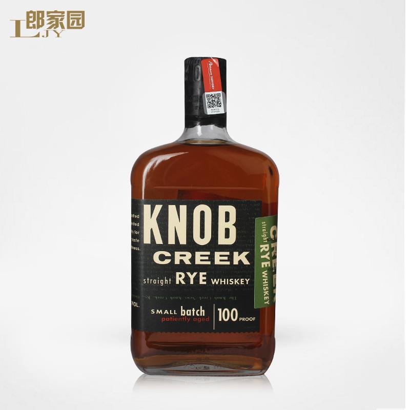 洋酒 KNOB CREEK 诺布溪黑麦波本威士忌 750ml