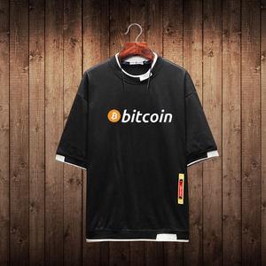以太坊T恤ethereum极客爱好者eth比特币BitCoin宽松大码衣服潮夏
