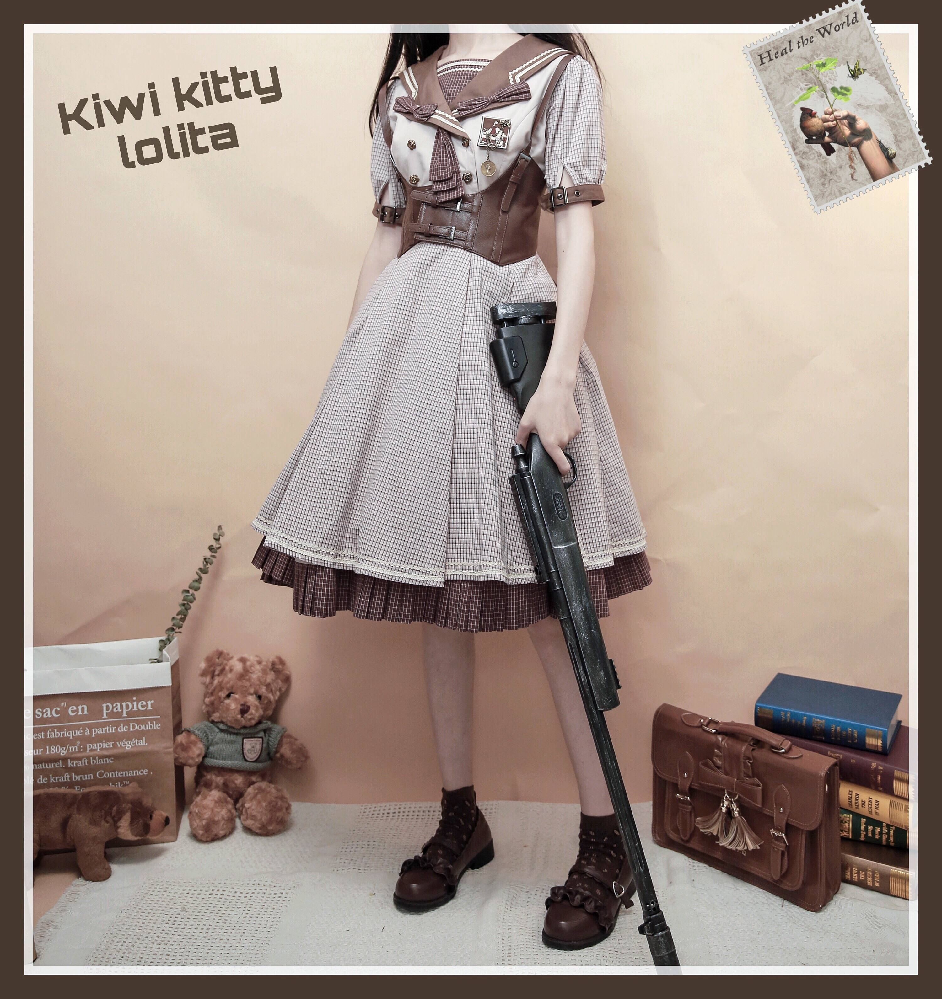 [long sleeve group 2 this year] kiwikitty Berlin stamp original Lolita army Lo College