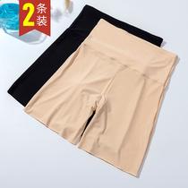 冰丝安全裤女夏季薄款防走光不卷边高腰弹力收腹大码打底保险短裤