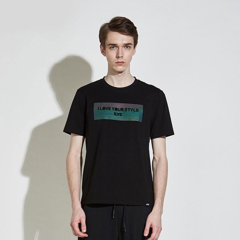 Ilys short sleeve t-shirt mens top mens round neck T-shirt regular sports half sleeve 2019 new simple casual summer