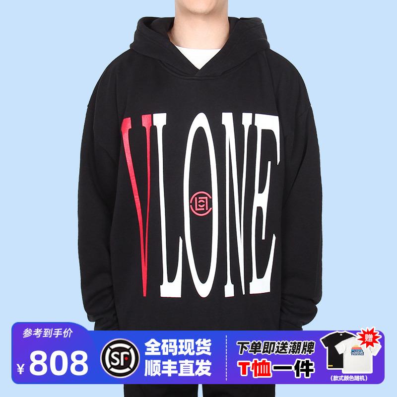 美版 VLONE x CLOT 联名限定中国龙帽衫下摆破坏连帽卫衣陈冠希