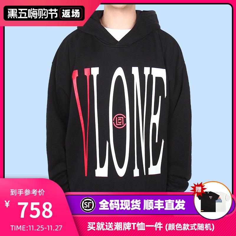 美版 VLONE x CLOT 聯名限定中國龍帽衫下擺破壞連帽衛衣陳冠希