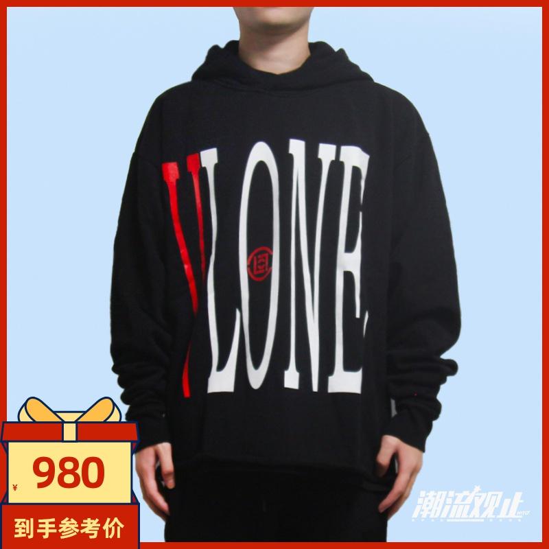 潮流觀止 VLONE x CLOT 聯名限定中國龍帽衫 下擺破壞連帽衛衣