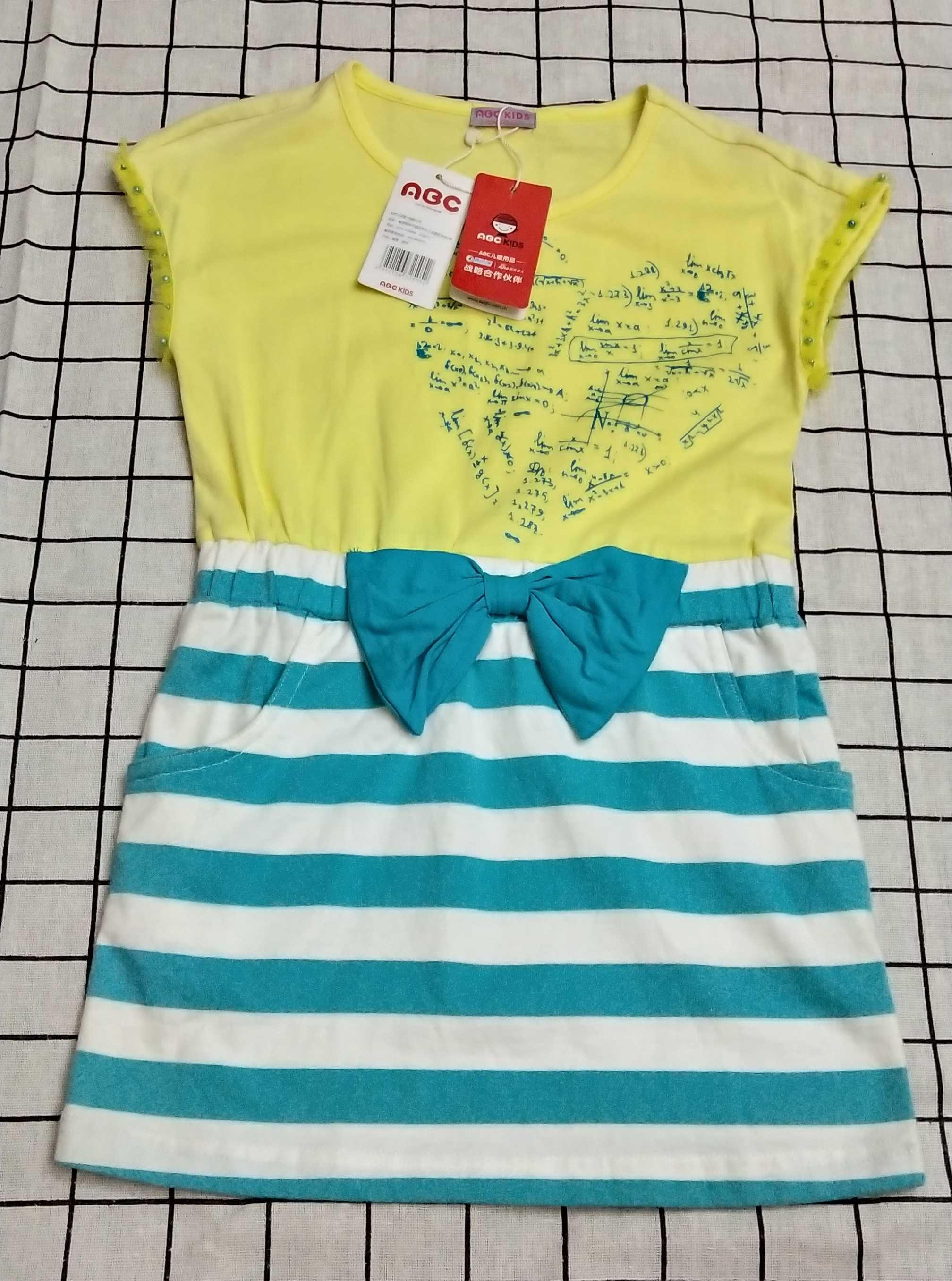 童装专柜正品  ABC女童纯棉夏款新款休闲版连衣裙