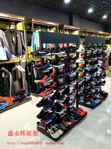 运动鞋鞋中岛架展示架货架鞋柜双面鞋中架商场高档鞋店店面鞋架
