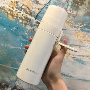 简约保温水杯子瓶带盖男士少女便携小巧创意个性潮流森系学生可爱