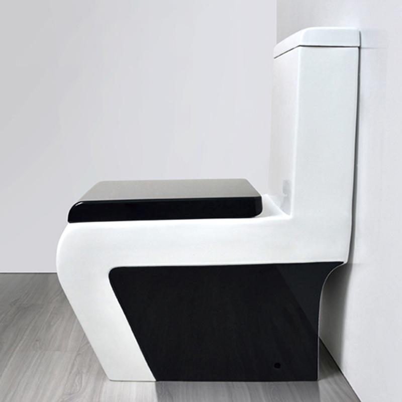 DAVE家用方形黑白马桶 高品质静音马桶 彩色连体坐便器 家装主材