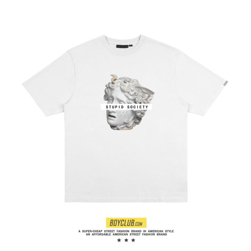 SadBoy美式潮牌早春新款发布2019Sadboy石膏头像纯棉短袖情侣T恤