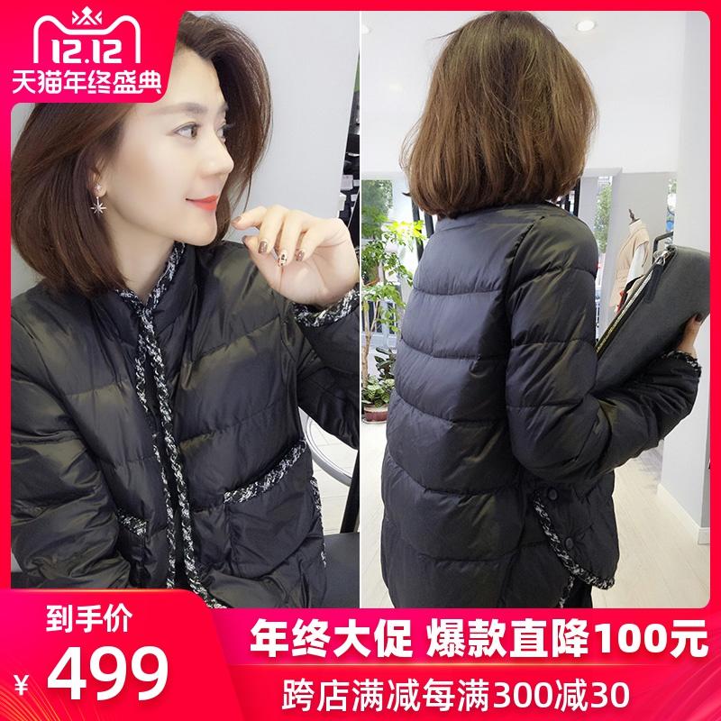 欧洲站羽绒服女2019新款冬装时尚欧货短款显瘦黑色小个子宽松外套