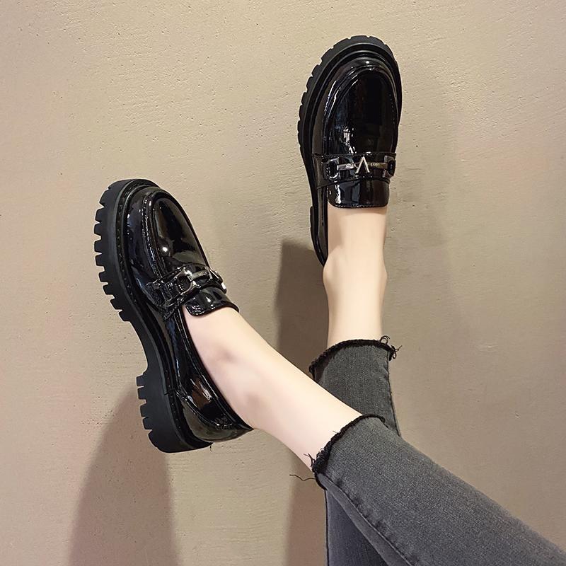 鞋子女2021年新款小皮鞋女夏季薄款平底单鞋玛丽珍鞋英伦风女鞋夏