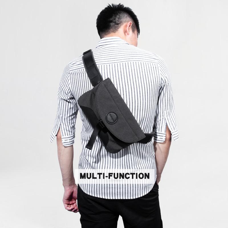 韩版小斜挎包男多功能腰包布户外运动背包邮差胸包单肩包ipad包潮