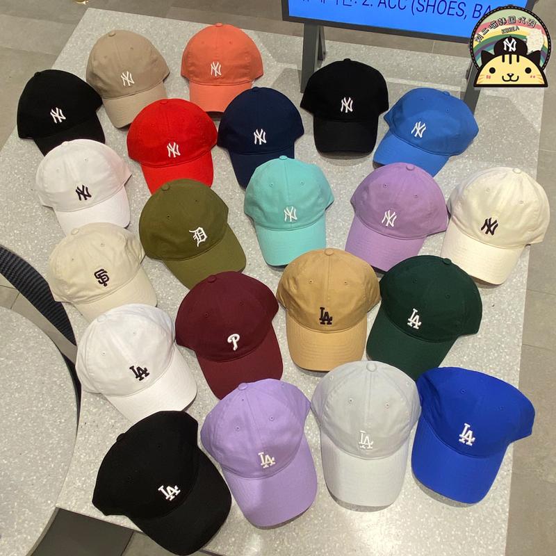 MLB小标帽子韩国专柜正品洋基NY刺绣男女软顶复古鸭舌棒球帽CP77