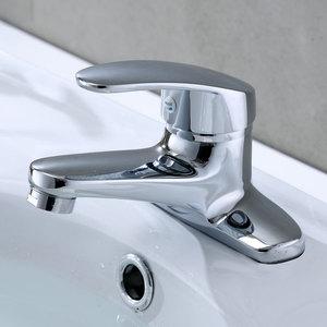 双孔面盆水龙头冷热家用台上盆卫生间老式洗手池洗脸盆全铜混水阀