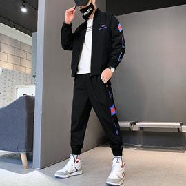 外套男春秋韩版潮流一套搭配痞帅运动炸街套装情侣款工装夹克套装