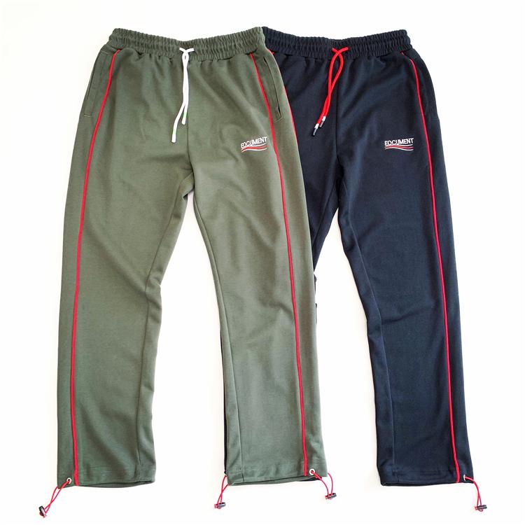 X01/P80/B233A男宽松日系脚口抽绳运动休闲裤撞色条纹控价128
