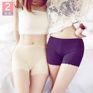 夏季中腰齐腿平脚内裤女式防走光肉色四角平角安全打底短裤头薄款
