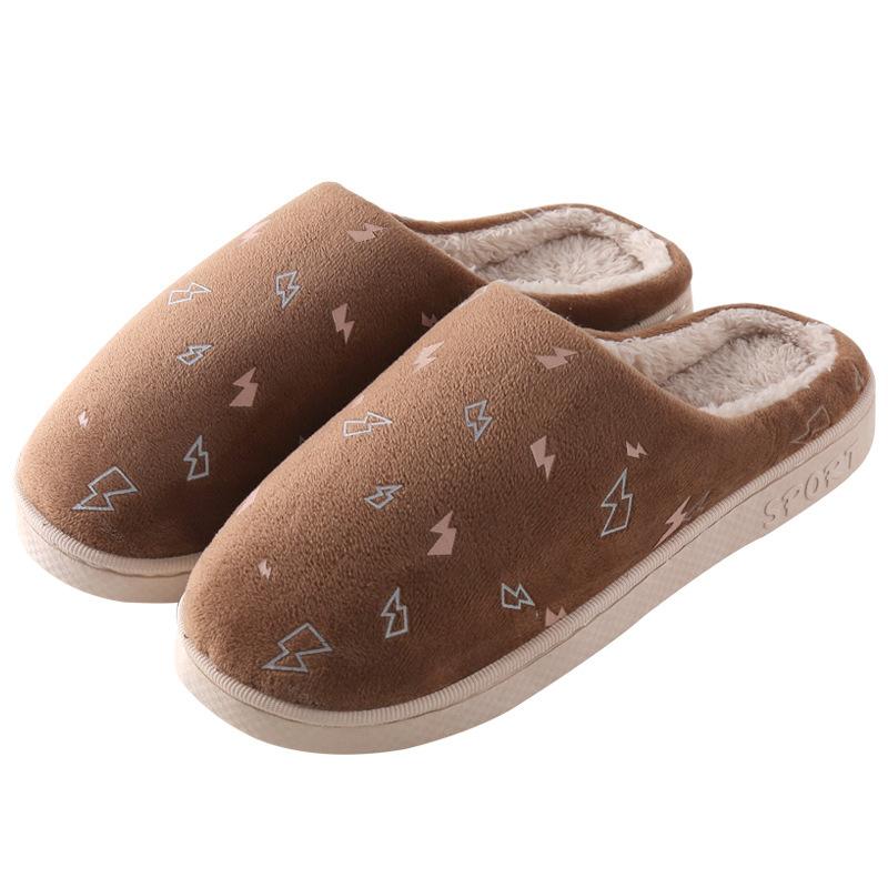 棉拖鞋女秋冬季室内防滑居家可爱情侣家居厚底男毛绒家用棉拖鞋子