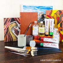 過道走廊掛畫豎版厚油抽象壁畫純手繪客廳油畫玄關裝飾畫一帆風順