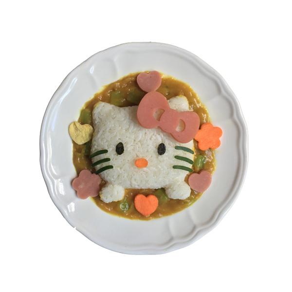 新款kitty饭团模具KT猫造型咖喱饭盖浇饭制作器宝宝爱吃饭工具