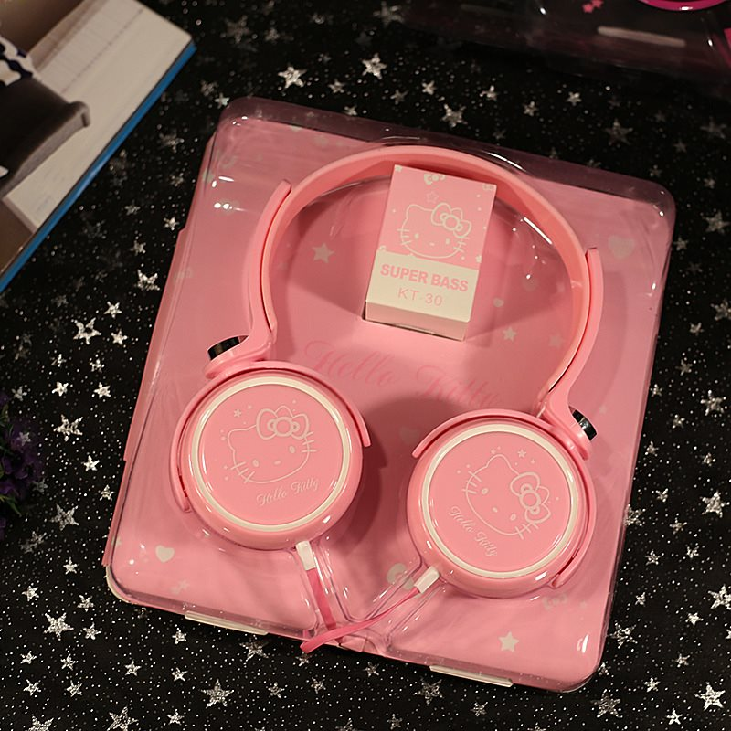 卡通可爱头戴式耳机有线MP3 手机耳机工厂通用耳麦大耳机耳麦