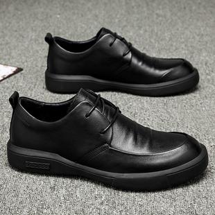 英伦皮鞋 春季 韩版 2020新款 鞋 男鞋 子男潮鞋 男休闲商务百搭真皮板鞋