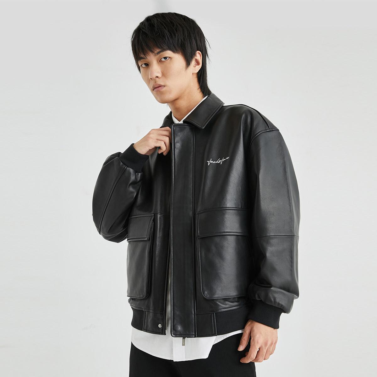 【满减】jackjones潮流帅气皮衣夹克