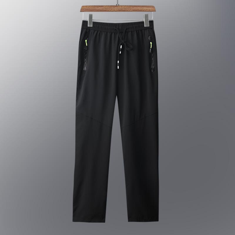 中老年裤子男爸爸夏天薄款速干冰丝运动休闲裤老年人夏装直筒长裤