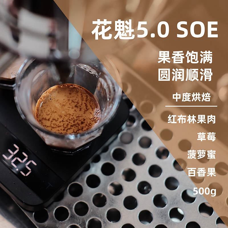 Ethiopia Huakui 5.0 SOE coffee powder coffee beans fresh roasted black coffee 500g SF mail