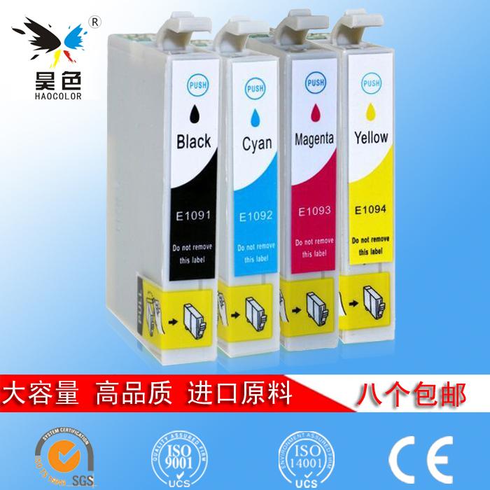 昊色 兼容Epson爱普生T1091墨盒 me30 me300 600F 1100 T109墨盒