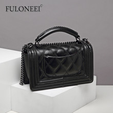 Florni Bauxie Emblem Bauxie 2018 New Small Fragrance Handbag Hanging Drop Single Shoulder Slant Bag Linger Chain Bauxie