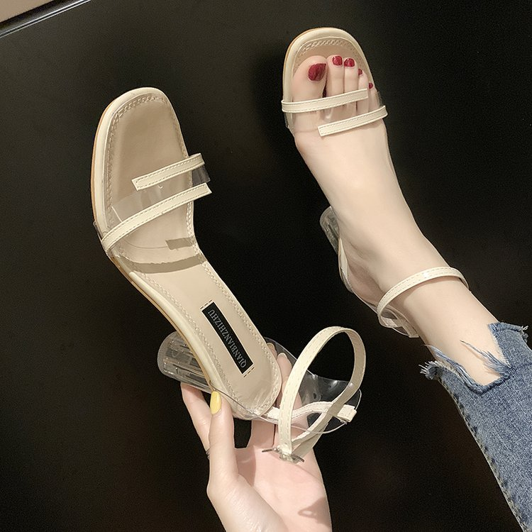High heeled sandals 2020 new style is not tired feet this years popular shoes girls low heel fashion fashion