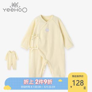 英氏新生婴儿连体衣初生宝宝哈衣薄款包屁衣睡衣夏季10094038