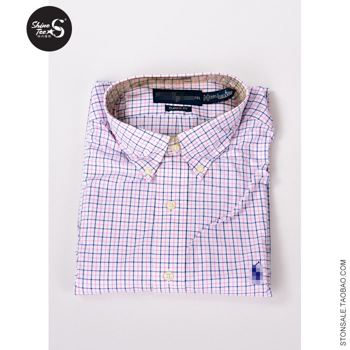 Special Offer! Dad boss extra large all season Polo cotton business leisure long sleeve shirt with large Plaid