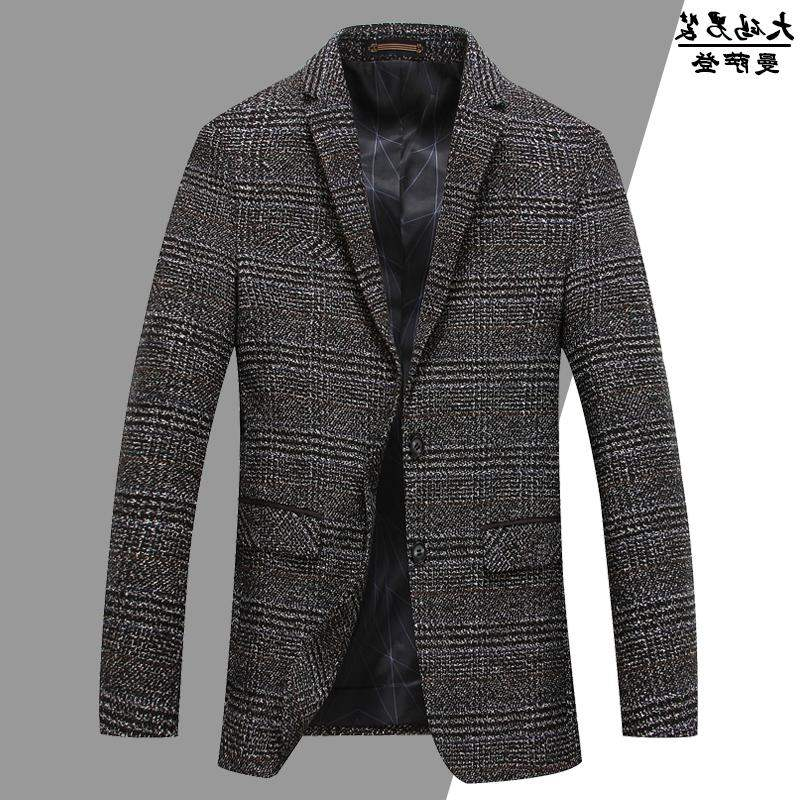 High grade brand middle aged and old peoples large size slim suit suit