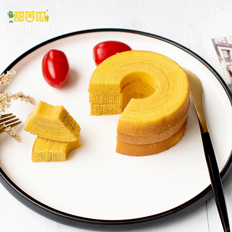 甜苦瓜 年轮蛋糕西式糕点点心休闲零食原味抹茶味年轮蛋糕350g11-06新券