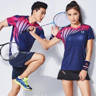 短袖 夏季 羽毛球服套装 佩琪酷2019新款 速干运动球衣比赛队服男 女款