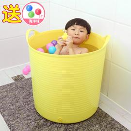 特大号加厚游泳儿童宝宝洗澡桶婴儿浴盆洗澡盆泡澡沐浴桶塑料水桶